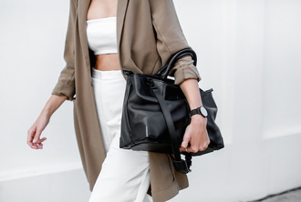 pants blogger bag jewels coat sunglasses modern legacy white crop tops
