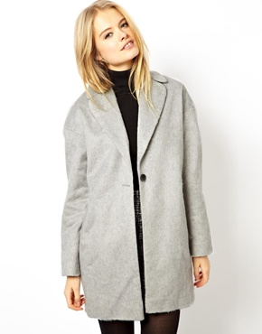 ASOS | ASOS Fluffy Cocoon Coat at ASOS