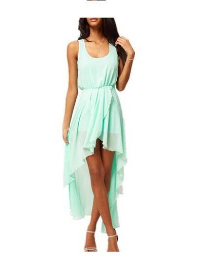 chiffon dress asymmetric