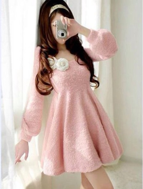 dress cute short dress pink dress