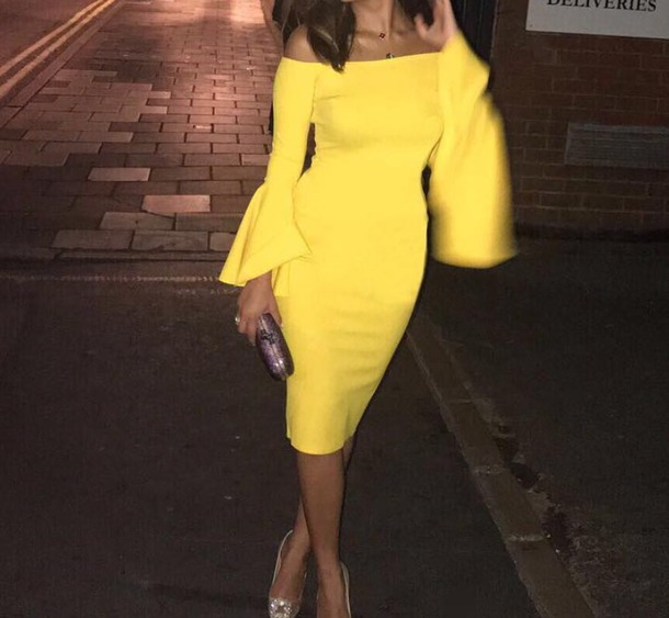 Yellow Dress with Sleeves