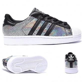shoes adidas matallic superstar