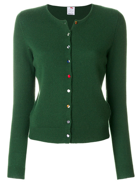 Ultràchic cardigan knitted cardigan cardigan women wool green sweater