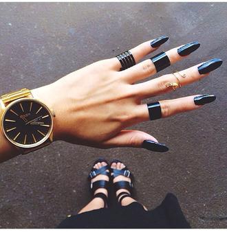 jewels nixon black and gold watch black watch