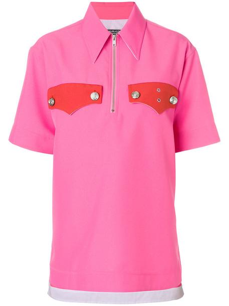 CALVIN KLEIN 205W39NYC top oversized zip women cotton purple pink