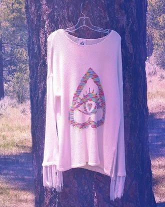 sweater colorful loose fit sweater