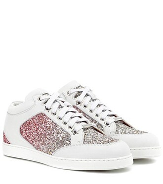 glitter miami sneakers leather shoes