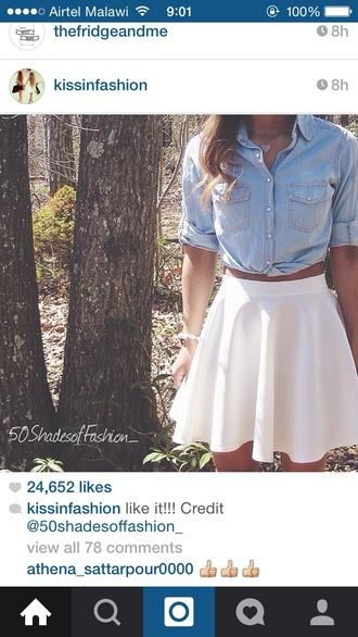 skirt white skirt cute skirts knee length