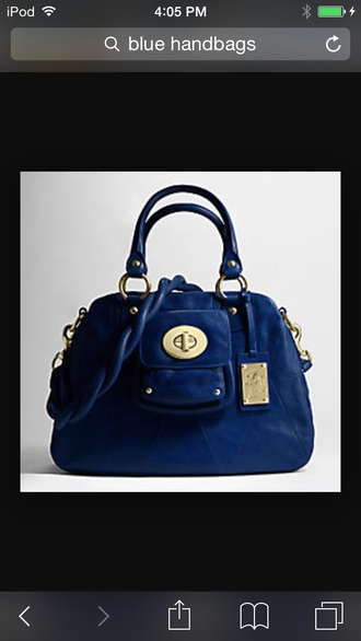 bag blue gold keychain purse