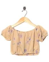 top,floral,flowers,flower shirt,crop tops,loose tshirt,beige