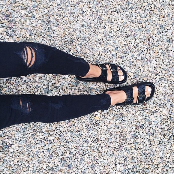 shoes jeans black jeans wasted jeans