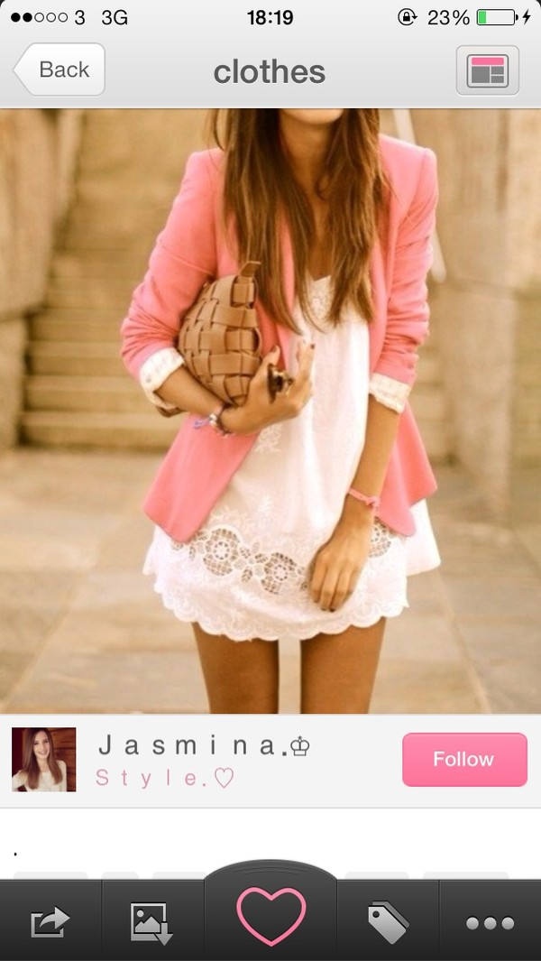 dress white jacket bag weheartit