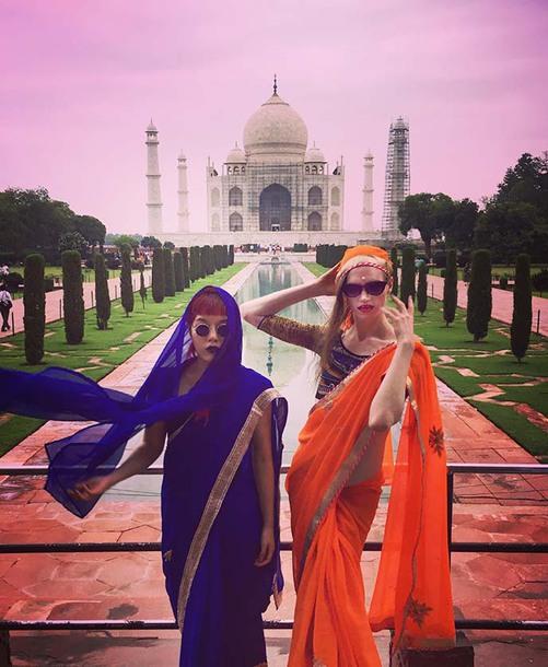 dress india hippie lacarmina la carmina makeup sari boho