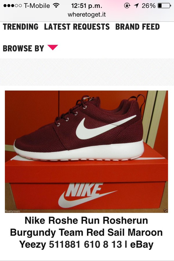 shoes nikes burgundy
