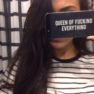 phone cover queen transparent case queen of fucking everything iphone case iphone 6 case