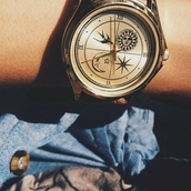 jewels,watch,cool watch,sun&moon,birds,clock,sun,moon,bohoo,moon and sun,vintage watch,gold clock,women watches,cute watch