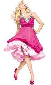 dress,legally blonde,sheridan smith,musical,theatre,pink dress,pink,pink pastel dresses,sherri hill,prom dress,short dress,light blue,summer dress,pink floral kimono