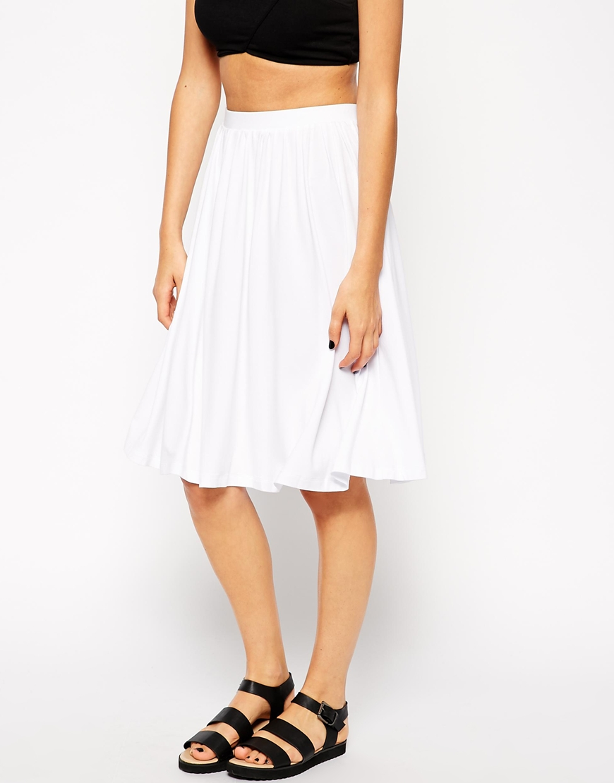 ASOS Midi Skater Skirt at asos.com