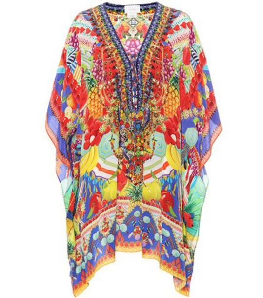 embellished silk top