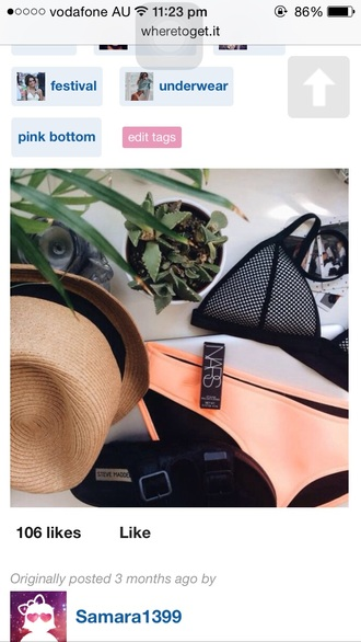 swimwear orange bottoms triangl nars cosmetics