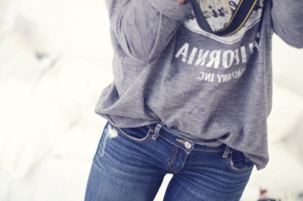 sweater jeans blue super skinny jeans top grey black white tumblr tumblr girl denim vintage hipster indie one direction fashion girly chavvy