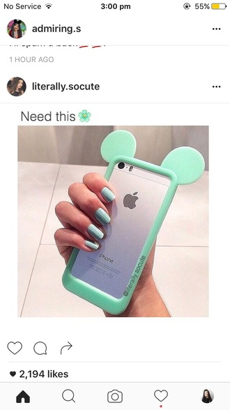 phone cover mint green blue turquoise disney disney case mickey mouse minnie mouse mouse mint phone case cute pretty