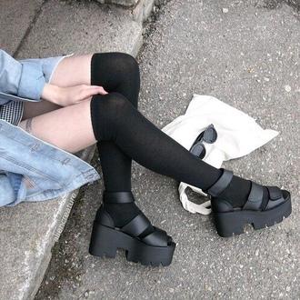shoes pale grunge tumblr emo blacks black sandals wedding hoes