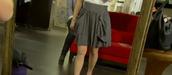 grey skirt,tv show,skirt