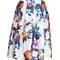 Graceful floral high waist skirt