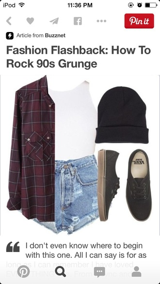 top vintage shirt all the other things shorts flannels flannel shirt