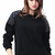 ROMWE | Rivet Embellished Black Pullover, The Latest Street Fashion