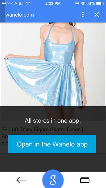 dress american apparel shimmery dress shimmer blue dress blue spaghetti strap