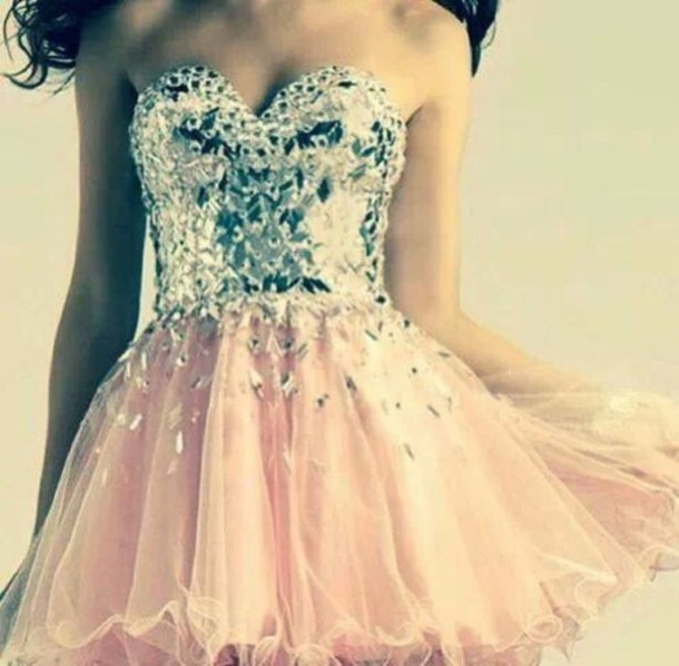 Dress Pink Dress Pink Cute Dress Bandeau Sleeveless Dress Prom