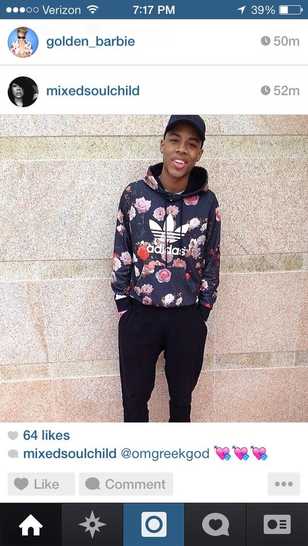 shirt floral adidas sweatshirt