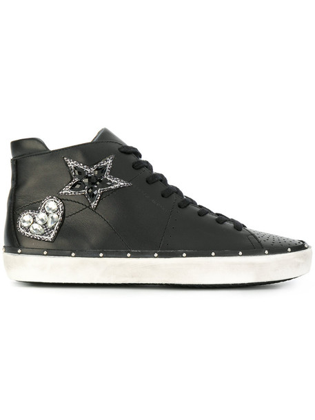Rebecca Minkoff women embellished sneakers leather black shoes