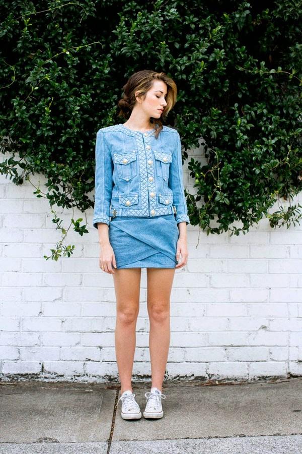 the chronicles of her jacket skirt bag