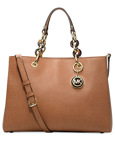 MICHAEL Michael Kors Cynthia Medium Satchel - Handbags & Accessories - Macy's