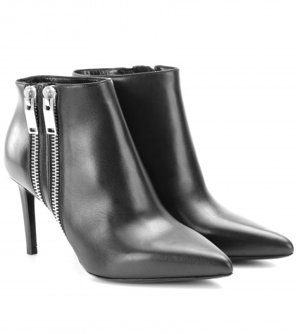 mytheresa.com -  Paris leather ankle boots  - Luxury Fashion for Women / Designer clothing, shoes, bags