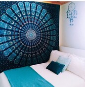home accessory,mandala,tapestry,mandala wall,make-up,wall tapestry,blue,art,wall decor,room accessoires,rooms,tumblr,cute