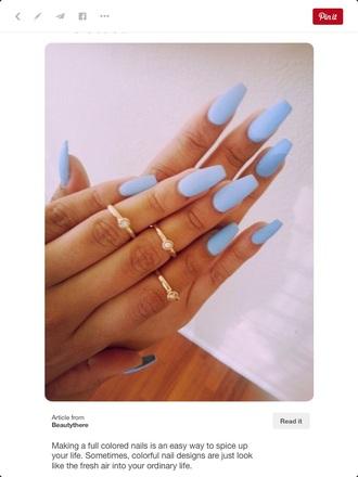 nail accessories blue nail polish