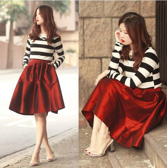 red skirt skirt shirt