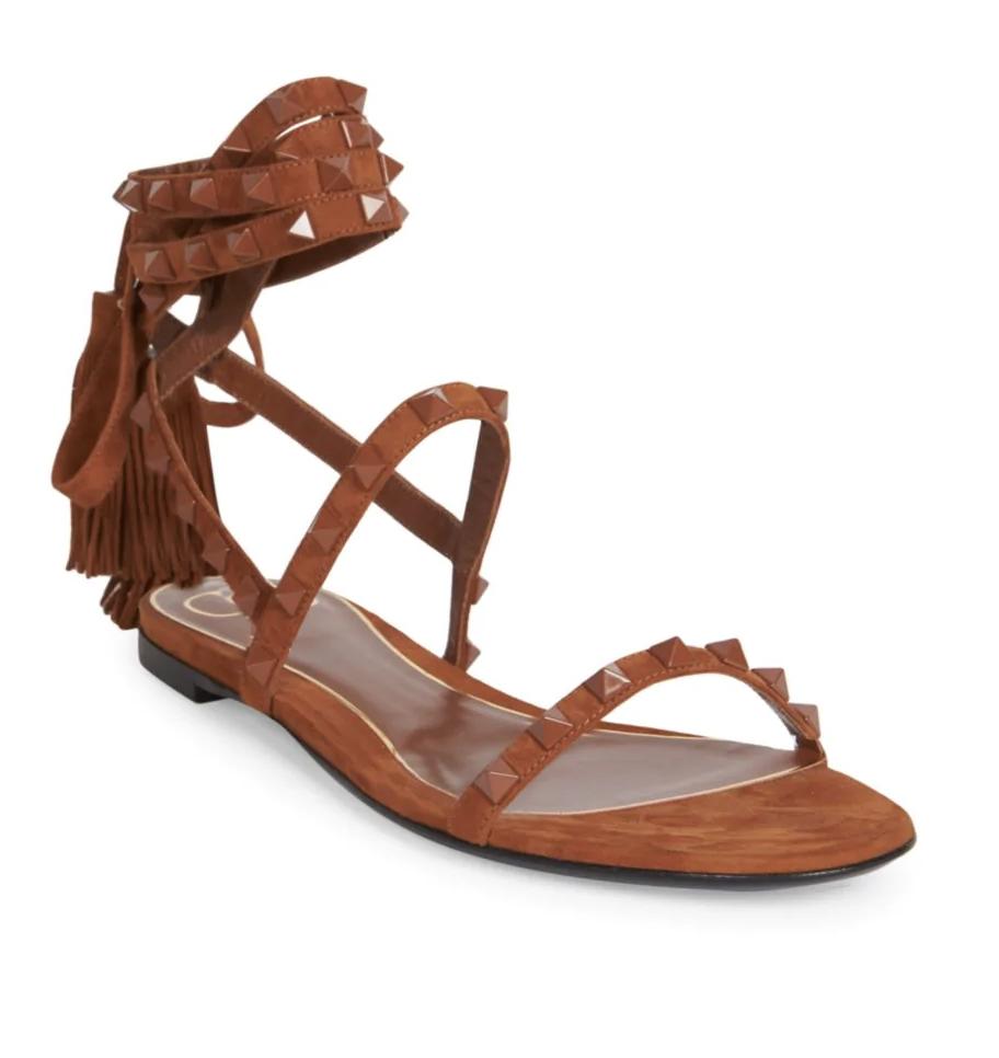 Valentino Valentino Garavani Rockstud Flair Ankle-Wrap Sandals