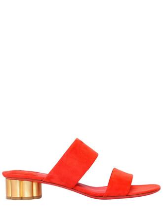 sandals suede orange shoes