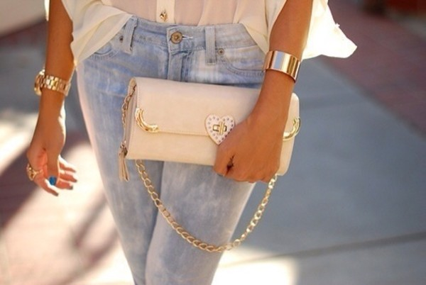 jeans blue light blue light blue jeans skinny jeans blue skinny jeans pants sexy jeans jeans denim clothes jewels bag