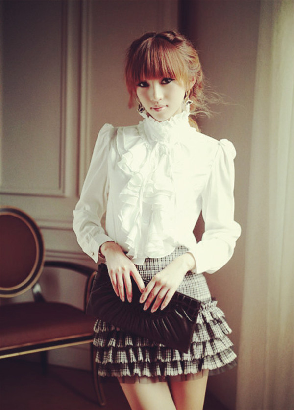 shirt vintage old school blouse white top clothes fashion skirt