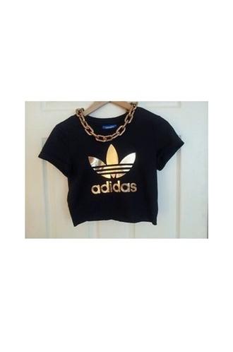 adidas black and gold shirt