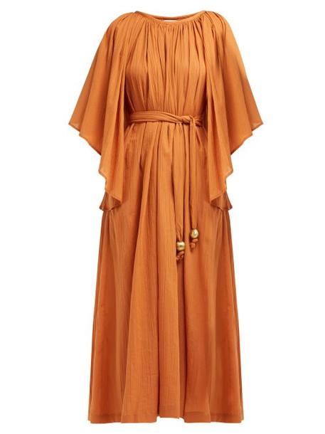 dress angel cotton orange