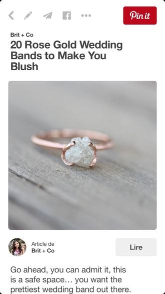 jewels rose gold rings and tings ring engagement ring wedding ring hipster wedding wedding accessories raw stone diamonds rose gold gorgeous