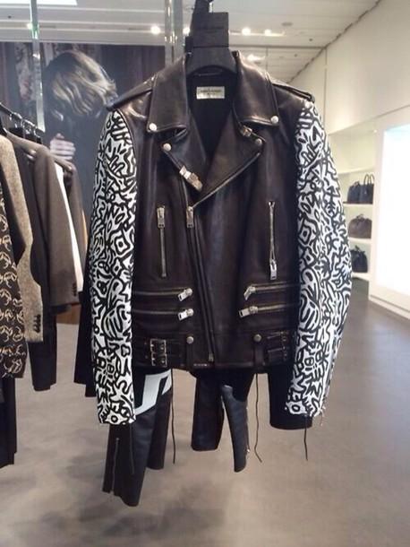jacket tribal pattern leather jacket tumblr