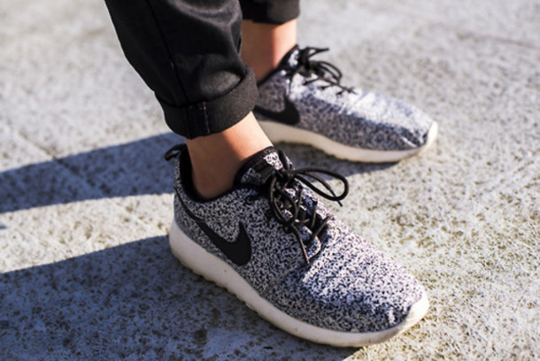 Roshe Trainers Shoes Blue White Womens Running Trainers Shoes